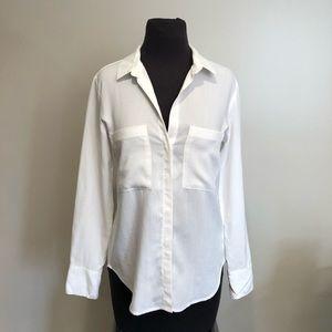 Anthropologie cloth & stone white Tencel blouse XS